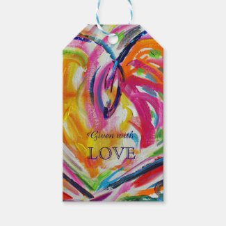 Heart of Joy Love Custom Card Gift Tags