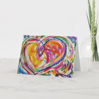 Heart of Joy Painting Custom Art Greeting Card