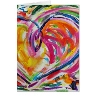Heart of Joy Painting Custom Art Greeting Cards
