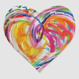 Heart of Joy Painting Stickers Art Labels