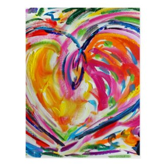 Heart of Joy Personalized Postcards