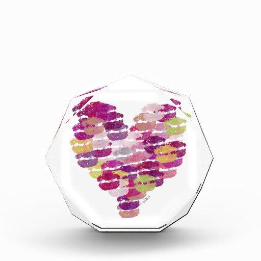 Heart of Kisses Acrylic Award