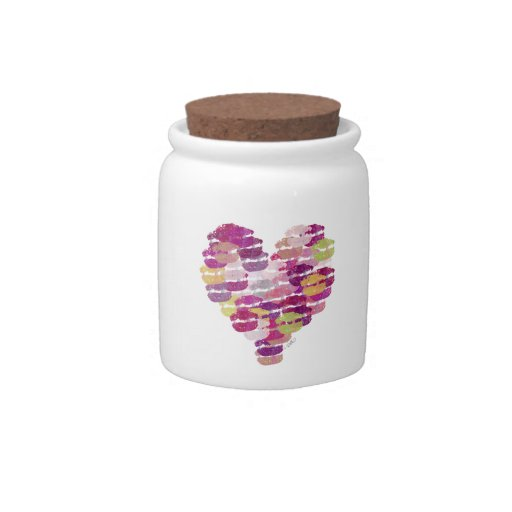 Heart of Kisses Candy Jar