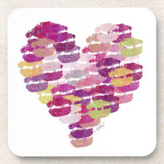 Heart of Kisses Cork Coaster