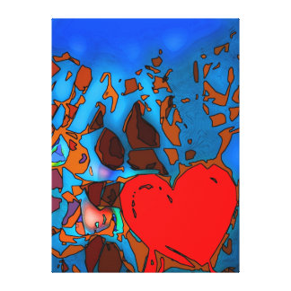 Heart of life gallery wrap canvas