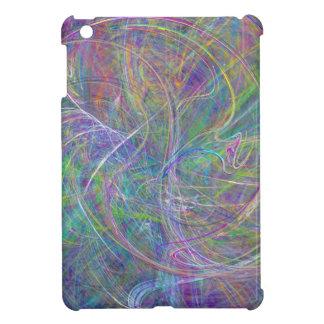 Heart of Light – Aqua Flames Indigo Abstract iPad Mini Cover