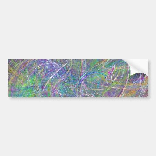Heart of Light – Aqua Flames & Indigo Swirls Bumper Stickers