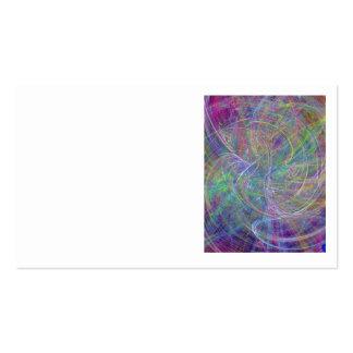 Heart of Light – Aqua Flames & Indigo Swirls Business Card Template