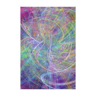Heart of Light – Aqua Flames & Indigo Swirls Canvas Print