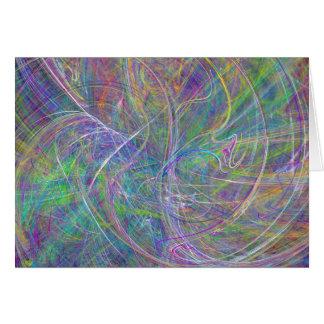 Heart of Light – Aqua Flames & Indigo Swirls Card