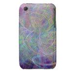 Heart of Light – Aqua Flames & Indigo Swirls iPhone 3 Cases