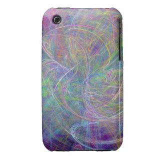 Heart of Light – Aqua Flames & Indigo Swirls iPhone 3 Case-Mate Cases