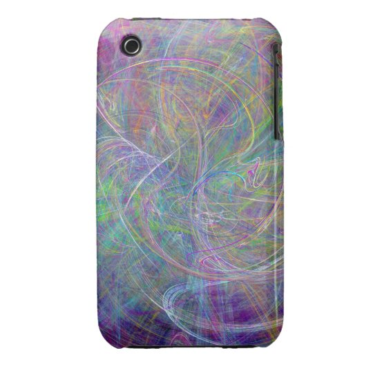 Heart of Light – Aqua Flames & Indigo Swirls Case-Mate iPhone 3 Case