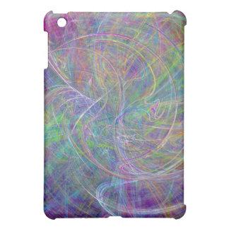 Heart of Light – Aqua Flames & Indigo Swirls iPad Mini Cover