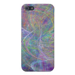 Heart of Light – Aqua Flames & Indigo Swirls iPhone 5 Case