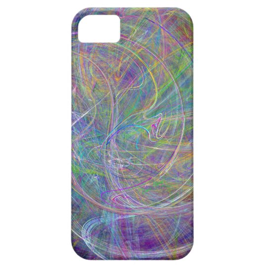 Heart of Light – Aqua Flames & Indigo Swirls iPhone SE/5/5s Case