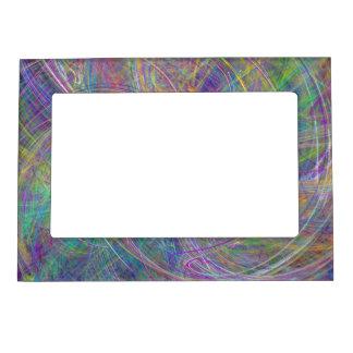 Heart of Light – Aqua Flames & Indigo Swirls Magnetic Frame
