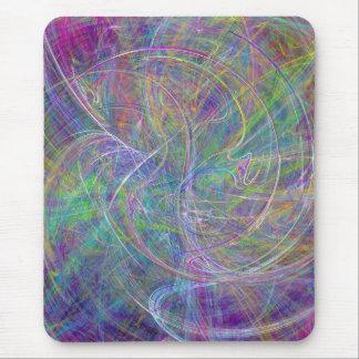 Heart of Light – Aqua Flames & Indigo Swirls Mouse Pad