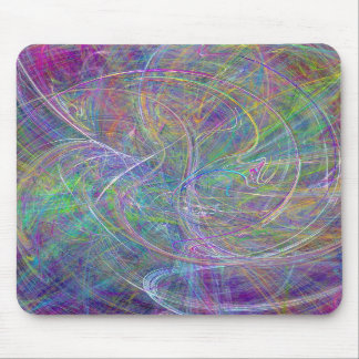 Heart of Light – Aqua Flames & Indigo Swirls Mousepad
