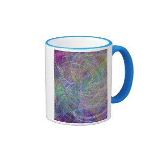 Heart of Light – Aqua Flames & Indigo Swirls Coffee Mug