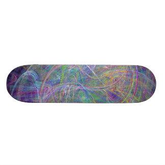 Heart of Light – Aqua Flames & Indigo Swirls Skate Decks
