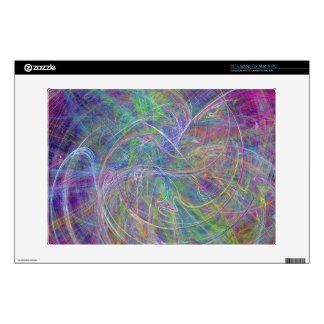 "Heart of Light – Aqua Flames & Indigo Swirls 13"" Laptop Decal"