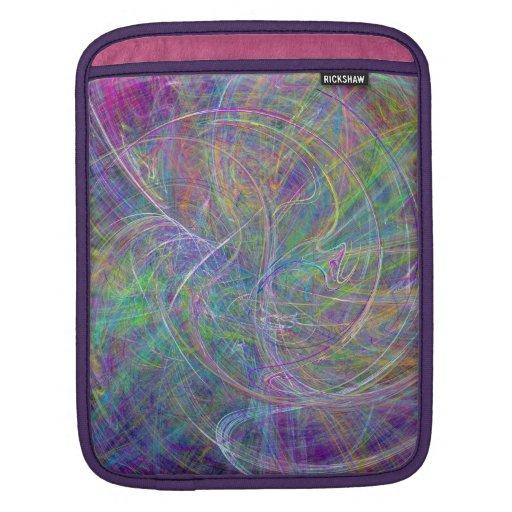 Heart of Light – Aqua Flames & Indigo Swirls Sleeve For iPads
