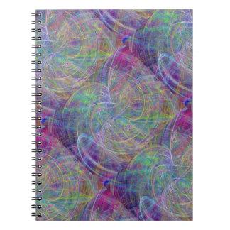 Heart of Light – Aqua Flames & Indigo Swirls Spiral Notebook