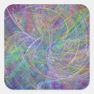 Heart of Light – Aqua Flames & Indigo Swirls Stickers
