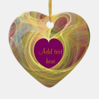 Heart of Love_ Ceramic Ornament