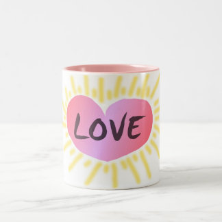 Heart of love coffee cup
