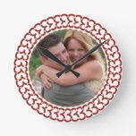 Heart of Love Custom Photo Frame Round Clocks