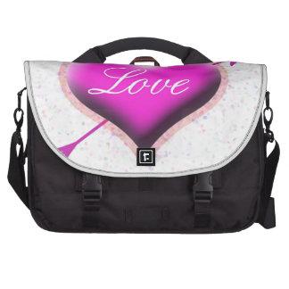 Heart of Love Laptop Messenger Bag