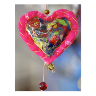Heart of love postcard