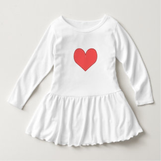 Heart of Love Ruffled Toddler Dress