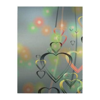 Heart of Love Wood Prints