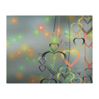 Heart of Love Wood Canvas