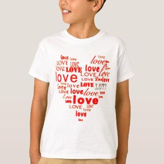 Heart of Love Words Apparel T-Shirt
