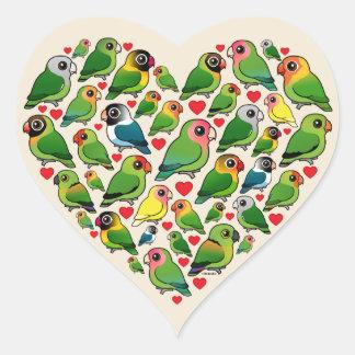 Heart of Lovebirds Heart Sticker