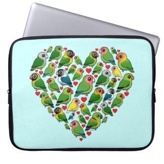 Heart of Lovebirds Laptop Sleeve