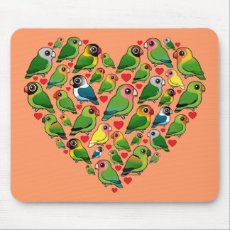Heart of Lovebirds Mousepads