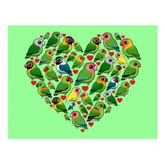 Heart of Lovebirds Post Card