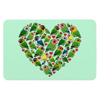 Heart of Lovebirds Rectangular Photo Magnet