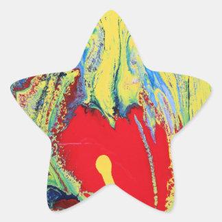HEART OF MARBLE STAR STICKER