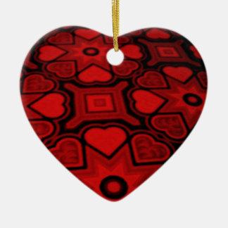 'Heart of My Heart' Ornament Ceramic Heart Ornament