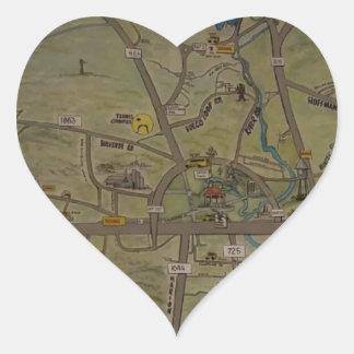 Heart of New Braunfels, Texas Heart Sticker