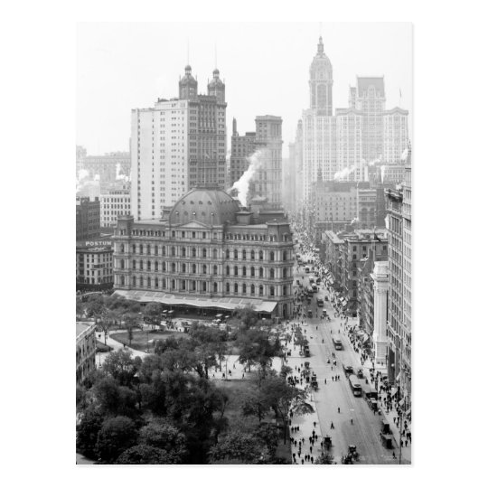 Heart of New York City: 1908 Postcard