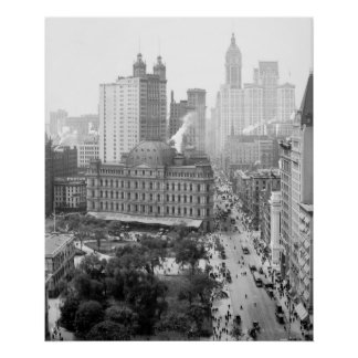 Heart of New York City: 1908 Poster