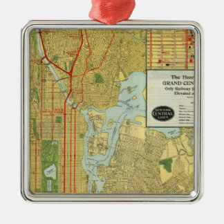 Heart of New York Square Metal Christmas Ornament