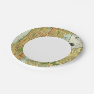 Heart of New York Paper Plate